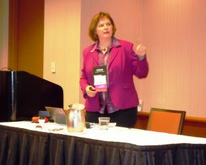 Dr. Feldmann-Leben bei ihrem Vortrag auf der ATA-Konferenz in Chicago