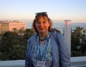 Dr. Feldmann-Leben auf der Terrasse eines Hotels in NIzza, vor dem Konferenz-Dinner der Wordfast-User-Konferenz